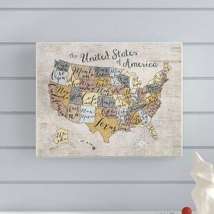 Framed United States Map Wayfair