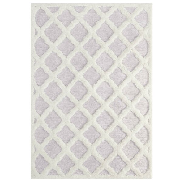 Livia Abstract Moroccan Trellis Ivory/Light Gray Indoor Area Rug by Red Barrel Studio