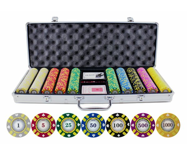 500 Piece Stripe Suited V2 Clay Poker Chip by JP Commerce