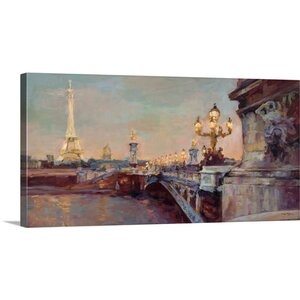'Parisian Evening' by Marilyn Hageman Painting Print on Wrapped Canvas by Great Big Canvas