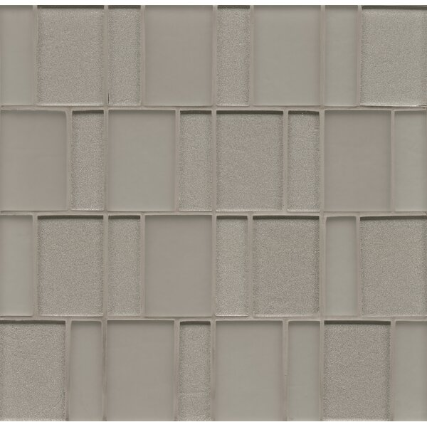 Remy Glass 12 x 12 Glass Mosaic Brick in Silver by Grayson Martin