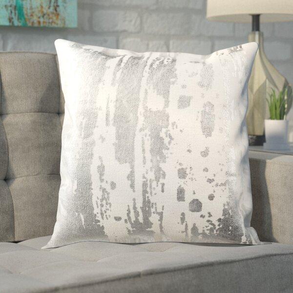 Jones Street Metallic Splatter Throw Pillow by Brayden Studio