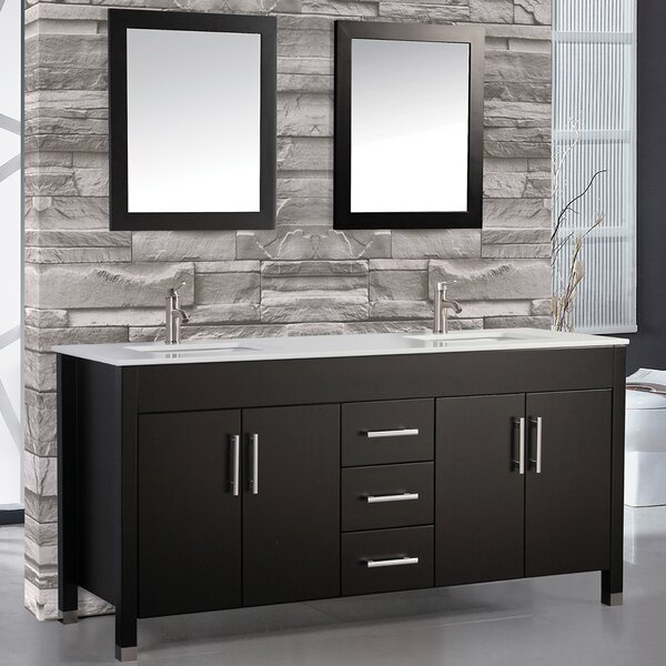 Prahl 60 Double Bathroom Vanity Set with Mirror by Orren Ellis