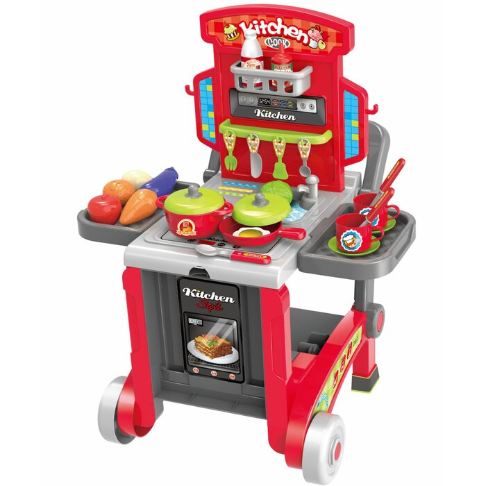 2 Piece 3-in-1 Children's Kitchen Set