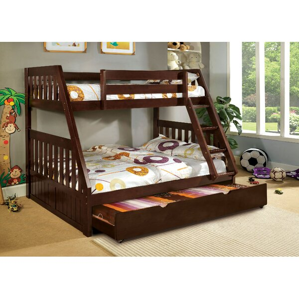 Clack Twin over Full Bunk Bed with Trundle by Harriet Bee