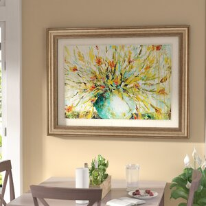 'Grande Bouquet' Framed Painting Print by Darby Home Co