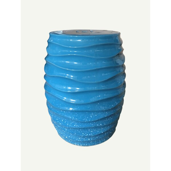 Hewes Ceramic Garden Stool by Highland Dunes Highland Dunes
