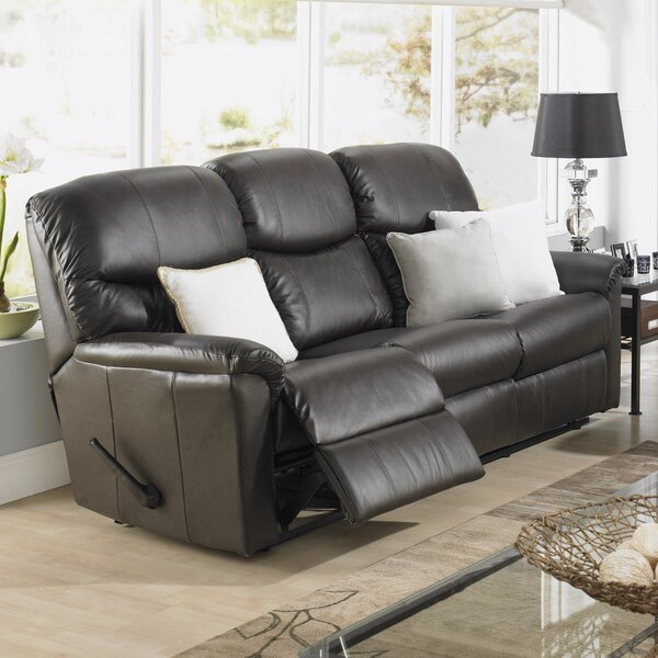 Last Trendy Uno Leather Reclining Sofa by Relaxon by Relaxon