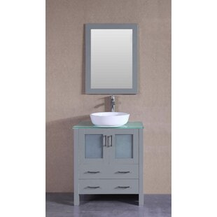Savings Macomber 30 Single Bathroom Vanity Set with Mirror By Breakwater Bay