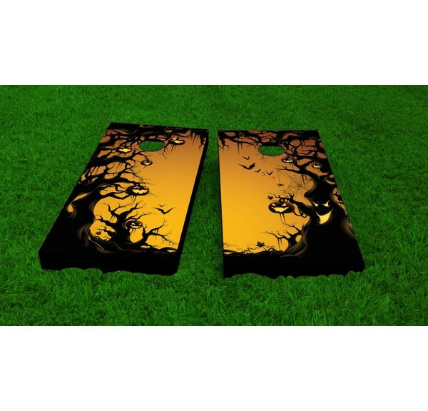 Scary Forest Halloween Theme Cornhole Game Set by Custom Cornhole Boards
