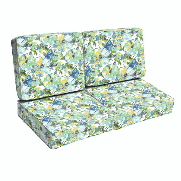 Deep Seating Indoor/Outdoor Loveseat Cushion by Bayou Breeze Bayou Breeze