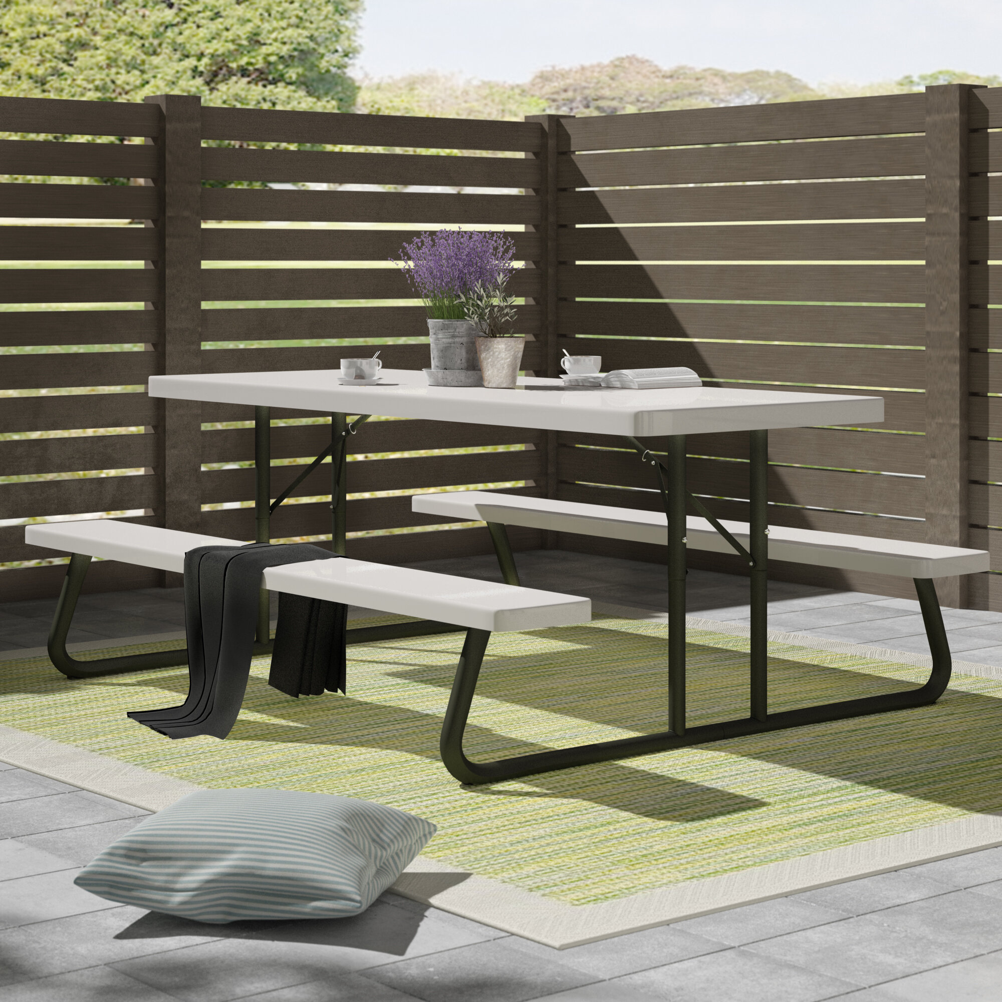 - Lifetime Folding Plastic Picnic Bench & Reviews Wayfair.co.uk