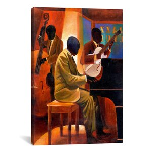 'Piano Man' by Keith Mallett Painting Print on Canvas by iCanvas
