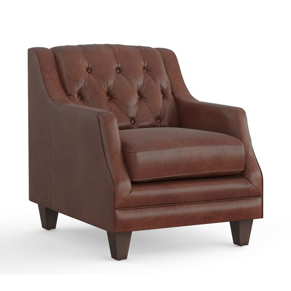 Pihu Leather Armchair by Darby Home Co