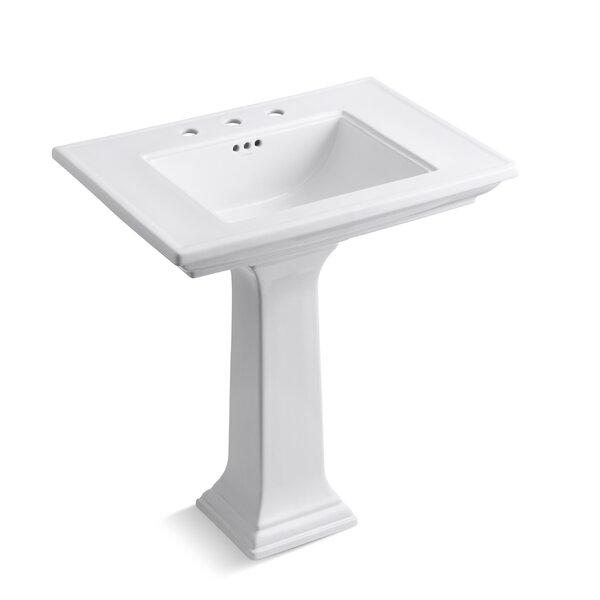 Memoirs® Ceramic 30 Pedestal Bathroom Sink with Overflow by Kohler