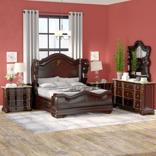 Erwan Standard Solid Wood 4 Piece Bedroom Set by Astoria Grand