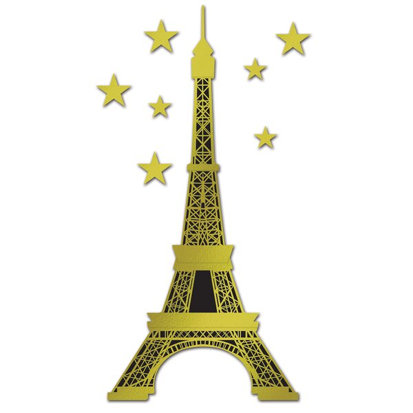 Foil Eiffel Tower Standup by The Beistle Company