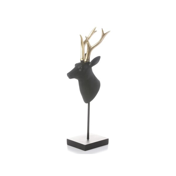 Schuck Deer Head with Base Decoration by The Holiday Aisle