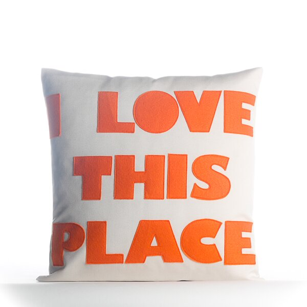 I Love This Place Outdoor Throw Pillow by Alexandra Ferguson