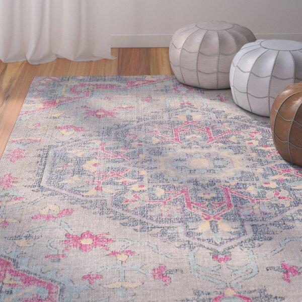 Randhir Gray/Pink Area Rug by Bungalow Rose