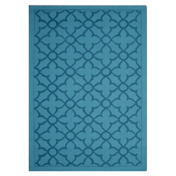 Flamenco Hana Hand-Loomed Turquoise Area Rug by DecorShore