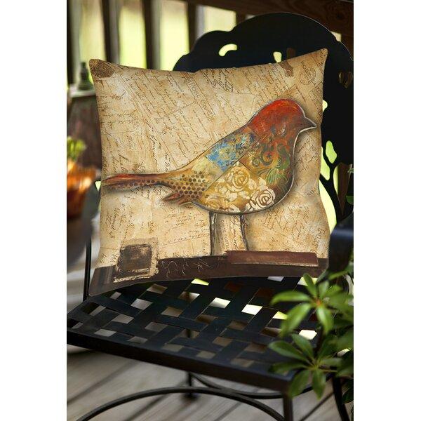 Bird Indoor/Outdoor Throw Pillow by East Urban Home