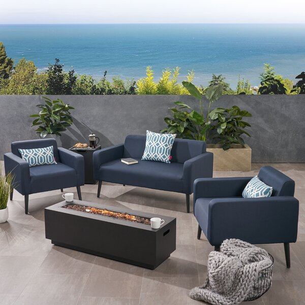 Breckenridge Outdoor 5 Piece Sofa Seating Group with Cushions by Brayden Studio