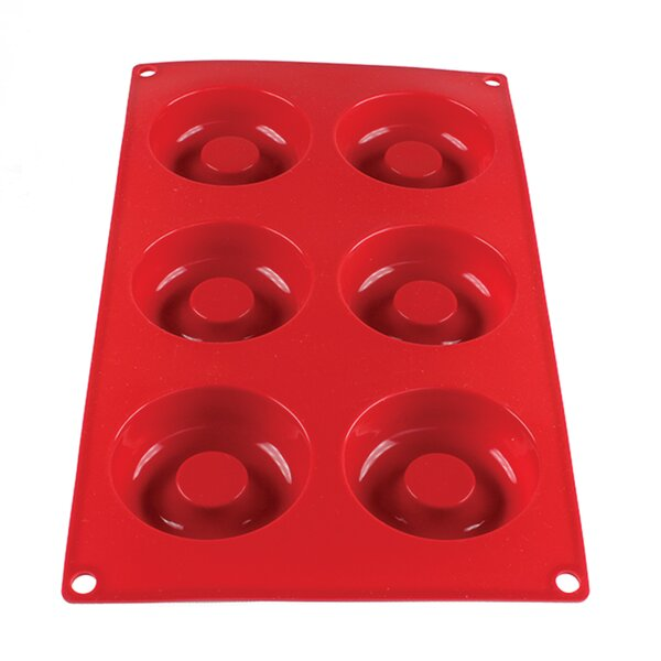 6 Cup Non-Stick 2.1 Oz Savarin High Heat Silicone Baking Mold by Thunder Group Inc.