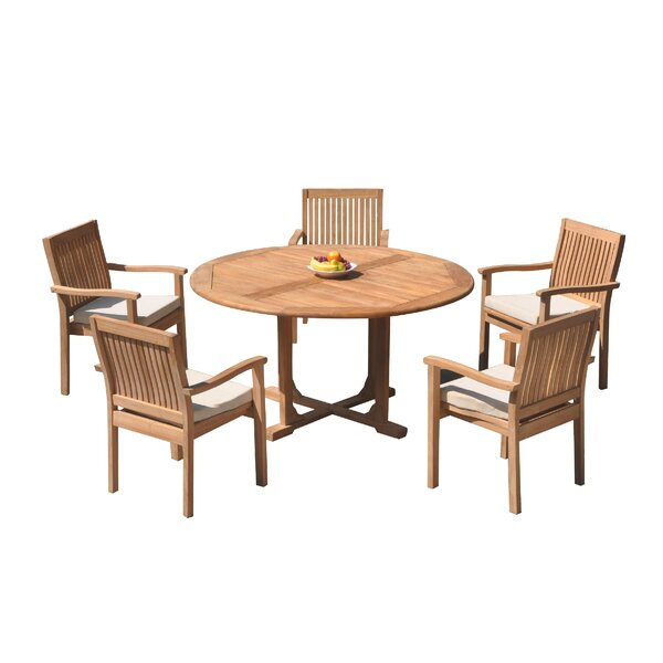 Maston 6 Piece Teak Dining Set by Rosecliff Heights