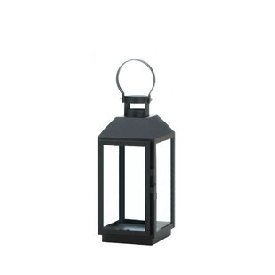 Glass/Metal Lantern By Winston Porter Outdoor Lighting