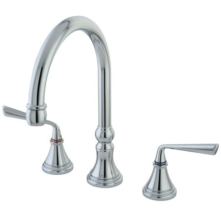 Copenhagen Double Handle Widespread Kitchen Faucet by Elements of Design