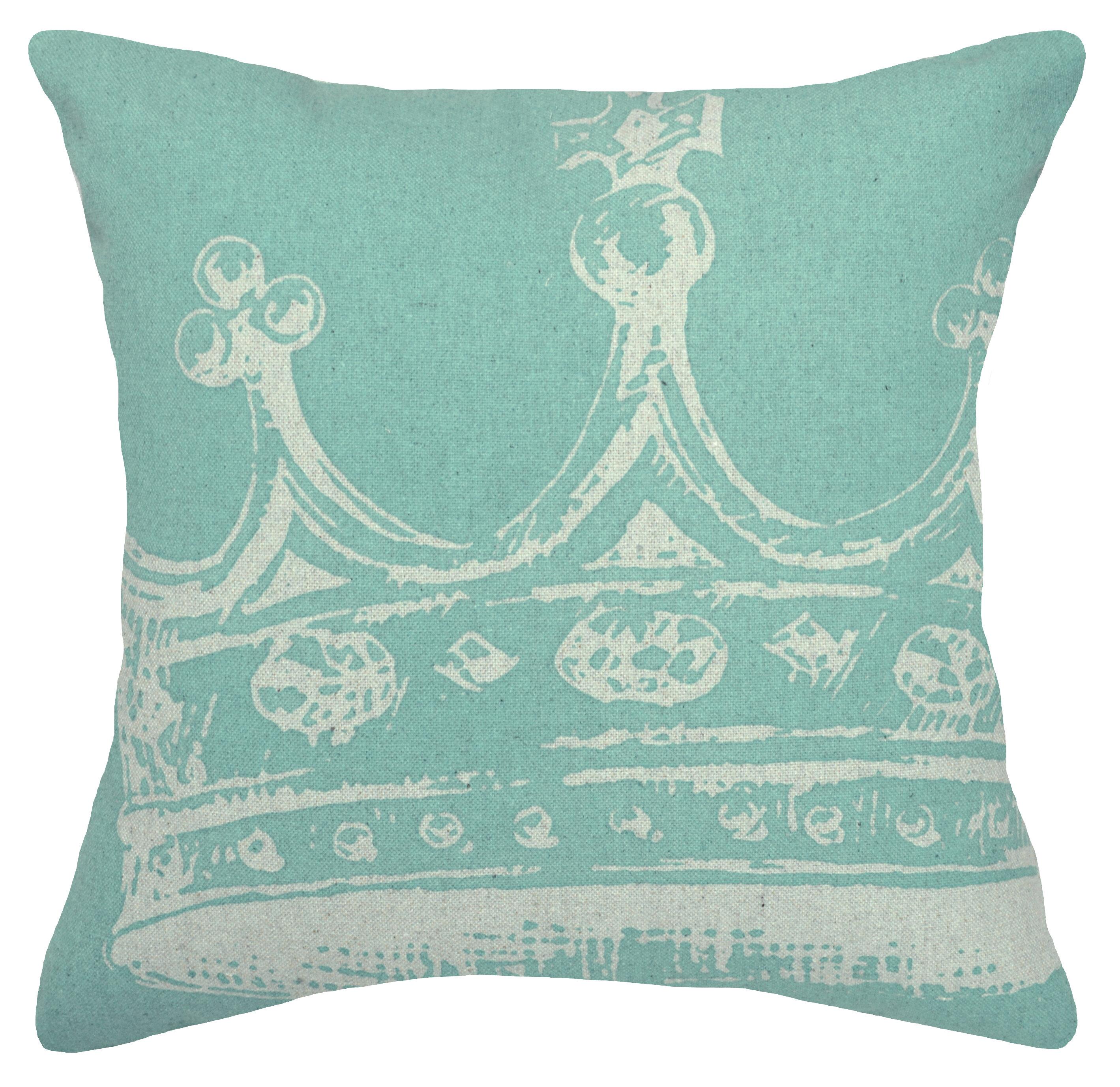 Wayfair Modern Pillow : 123 Creations Modern Crown Linen Throw Pillow Wayfair