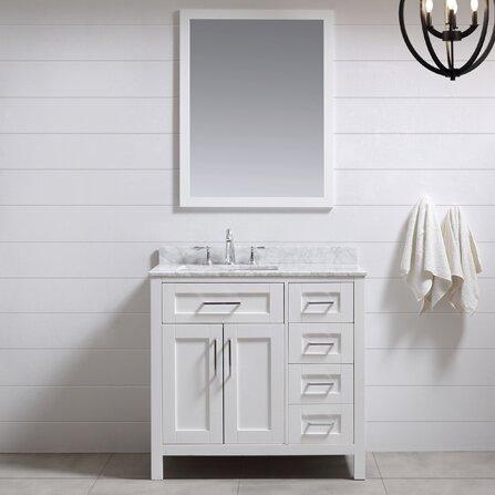 "36 Bathroom Vanity ove decors tahoe 36"" single bathroom vanity set with mirror in"