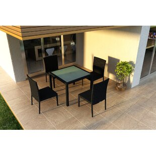 Hermina 5 Piece Sunbrella Dining Set By Latitude Run