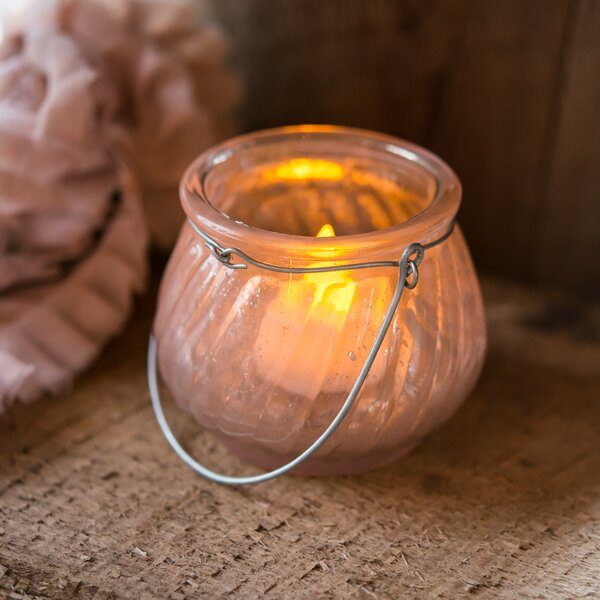 Miniature Glass Tealight (Set of 6) by Weddingstar