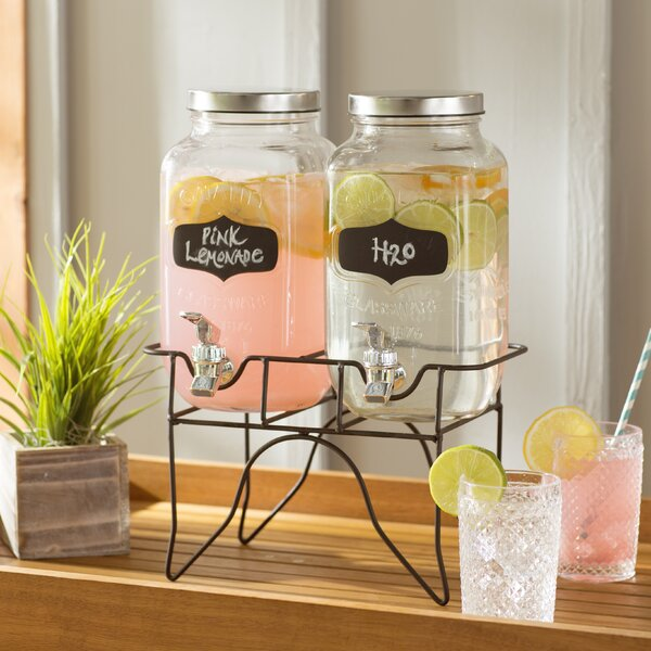 Bauer 3 Piece Dual Beverage Dispenser Set by Laurel Foundry Modern Farmhouse