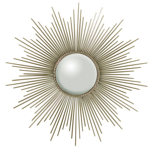 Sunburst Accent Mirror with Security Hardware by Global Views