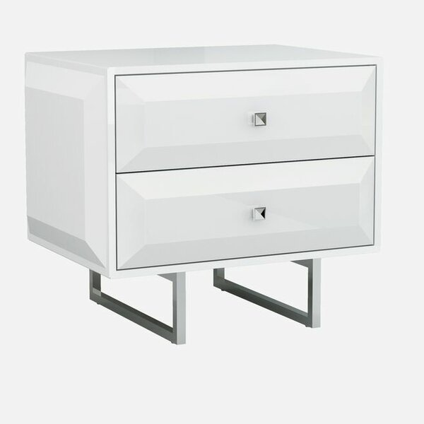 Aesara 2 Drawer Nightstand by Orren Ellis