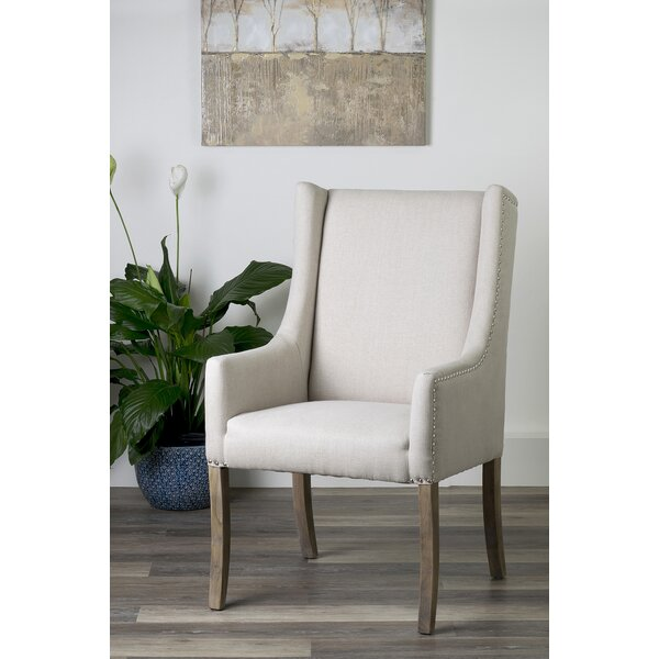 Lanz Upholstered Arm Chair In Beige By One Allium Way
