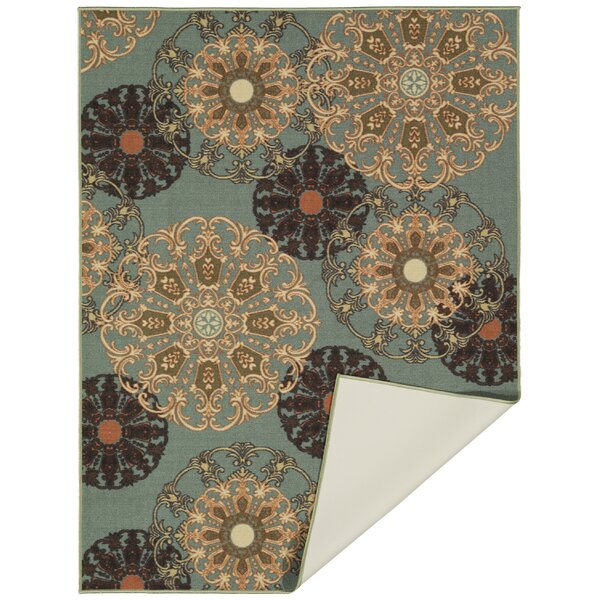 Galesburg Oriental Design Blue Area Rug by Andover Mills