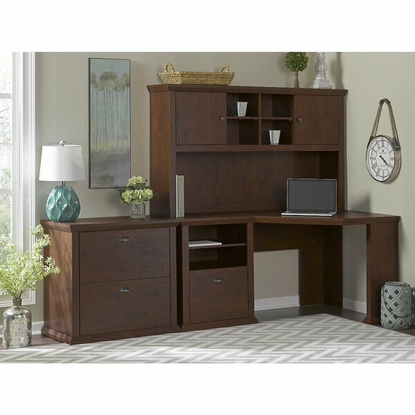 Ferrell 2 Piece Desk Office Suite by Three Posts