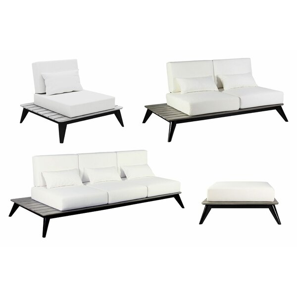 Kakaban 4 Piece Teak Sofa Seating Group With Cushions By Seasonal Living