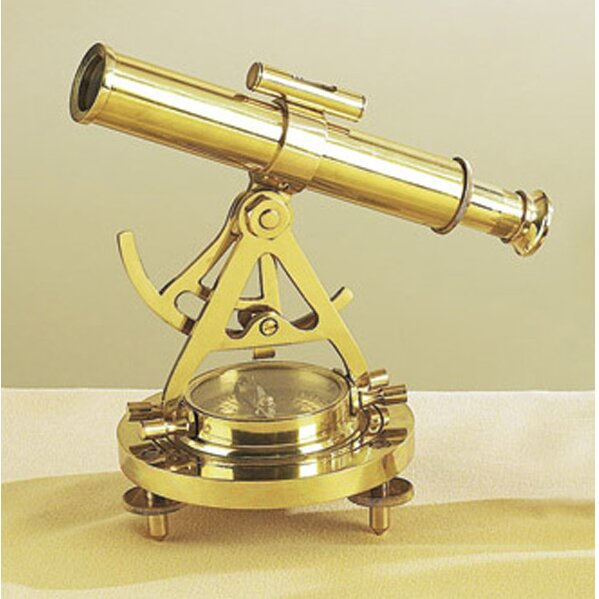 Antique Reproduction Decorative Telescope and Comp