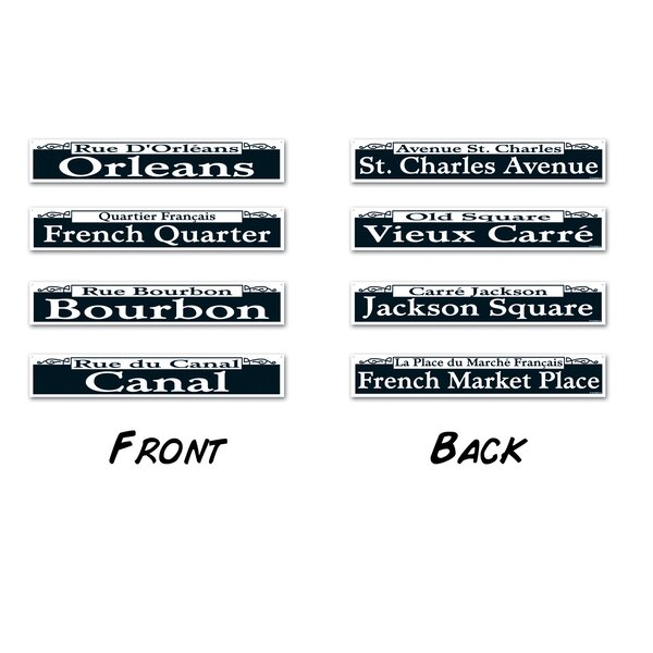 4 Piece Mardi Gras Street Sign Standup Set (Set of 3) by The Beistle Company