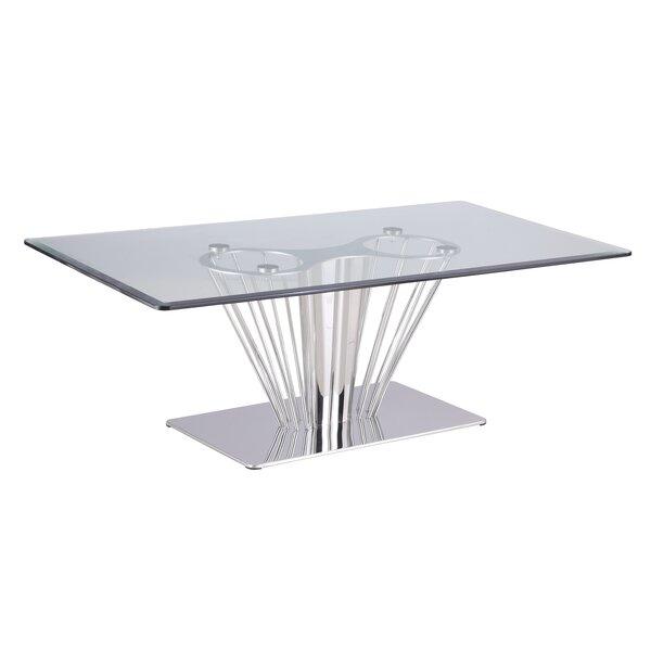 Noah Pedestal Coffee Table By Orren Ellis