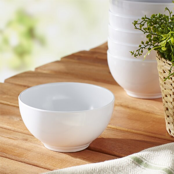 Calypso Basics Melamine Bowl in White (Set of 6) by Reston Lloyd