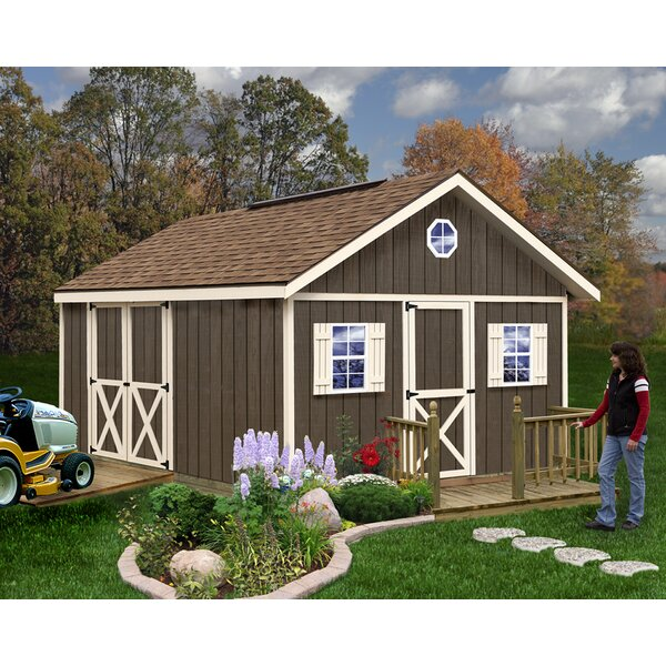 Fairview 12 ft. W x 16 ft. D Solid Wood Storage Shed by Best Barns