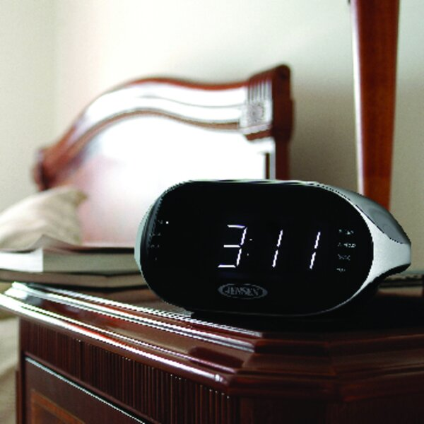 Digital Bluetooth AM/FM Dual Alarm Radio Tabletop Clock by Jensen