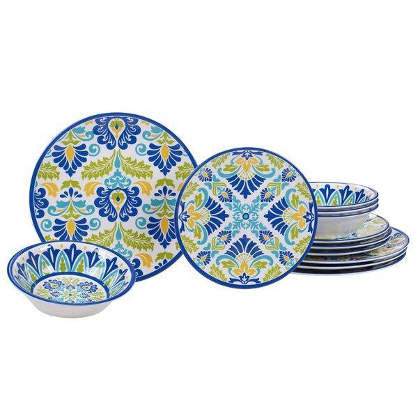 Hoehn 12 Piece Melamine Dinnerware Set, Service for 4 by Alcott Hill