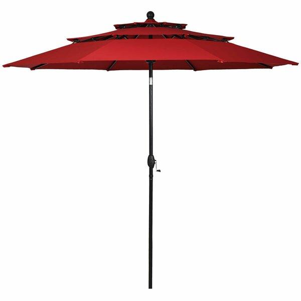 Sanna 3 Tier Patio Sunshade Shelter Beach Umbrella by Ebern Designs